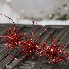 Large Red Glitter Starburst Spray