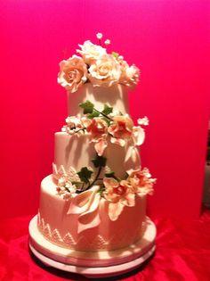 La mia profumo di fiori wedding cake