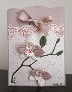Card by DT member Anita with Collectables Orchid (COl1379) and Creatables Anja's Border Chic (LR0343) by Marianne Design