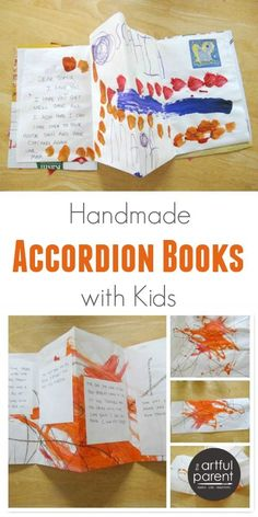 How to Make Handmade Accordion Books with Kids