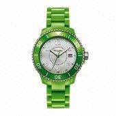 "Thomas Sabo Charm ""It Girl"" Green Fashionable Sports Watch WA0112-250-202"