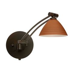 Besa Lighting 1WW-1743CH-BR Swing Arm Lamps - LightingCatalog.com