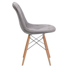 Probability Dining Chair Wood/Gray - Zuo. Image 2 of 5.