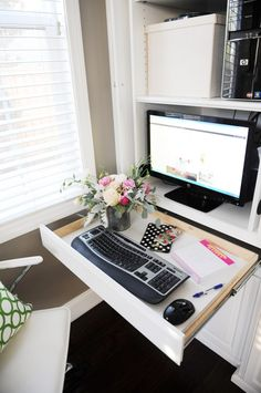 Interior Design: Creating a Family Room Office Nook - Entertain | Fun DIY Party Craft Ideas