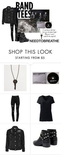 """""""NEEDTOBREATHE"""" by sherise-roetz ❤ liked on Polyvore featuring The Giving Keys, Yves Saint Laurent, Lands' End, Topshop, Senso and country"""
