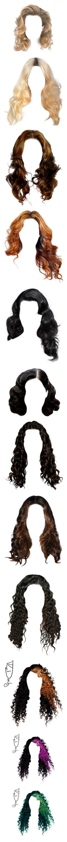 """Ultimate 'Doll Hair' Collection Pt. II"" by dazzlingdondiva ❤ liked on Polyvore featuring hair, doll parts, dolls, doll hair, wigs, hairstyles, beauty products, haircare, hair styling tools and body parts"