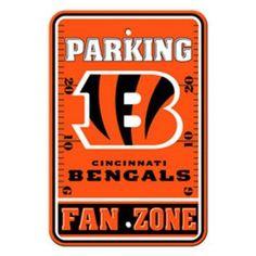 NFL Cincinnati Bengals Parking Sign, Multicolor