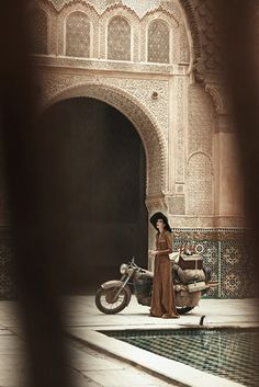 Edie Campbell and Peter Lindbergh in Morocco for Vogue US