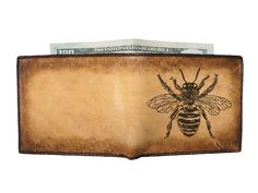 Gift for the hunny https://www.etsy.com/listing/96938168/bi-fold-leather-wallet-fat-bee