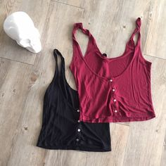 Pacsun Tank Bundle Bundle of two tanks. Lightly used and in great condition. Both are size medium. Buttons typically go in the back but can be worn in the front. Tag is cut out of the maroon one! ❤️ PacSun Tops Tank Tops