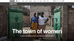 The town of women, BBC News