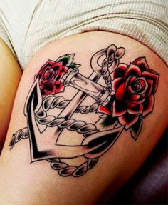 anchor with skull tattoo design - Google Search