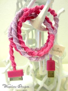 Yarn Wrapped Scented iPod / iPhone / iPad USB by WraptureDesigns, $15.00
