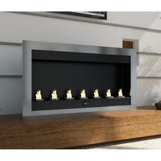 Cheminée éthanol panoramique inox 7 feux prix promo Atylia 399,60 € TTC au lieu de 999,00 € Prix Constaté