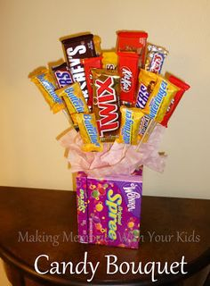 Making Memories ... One Fun Thing After Another: Candy Bouquet