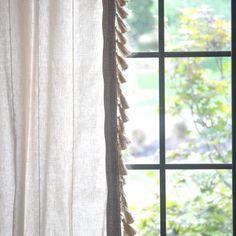 Anthro-Inspired Jute Tassel Trim Curtains