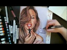 Tutorial - How to color with copics: coloring with elegance - YouTube
