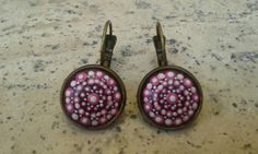 Check out this item in my Etsy shop https://www.etsy.com/listing/476255891/pink-dotillism-art-mandala-earrings-with