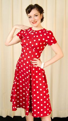 Hell Bunny Red Madden Polka Dot 40s Dress