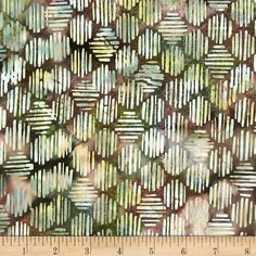 Bali Batiks Handpaint Striped Hexagon Neapolitan from @fabricdotcom  Designed for Hoffman International Fabrics, this Indonesian batik is perfect for quilting, craft projects, apparel and home décor accents. Colors include shades of brown, shades of green and shades of rose.