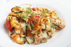 Zucchini-Tomaten-Auflauf | schnell, gesund, einfach & lecker auf fithealthydi.com
