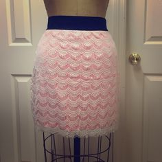 Free people fitted skirt w lace Free people fitted skirt w lace Free People Skirts Mini