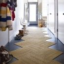 Buy Suit Yourself-Raffia carpet tile by FLOR--Upstairs hallway..so easy to remove a piece and replace it when it gets a little crusty