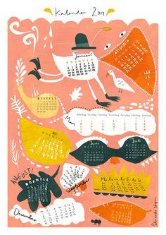 Calendar for 2014 by Petra Wester Norgren