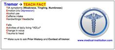 Tremor Mnemonic - Best USMLE Step 2 CS mnemonics - Medical Institution