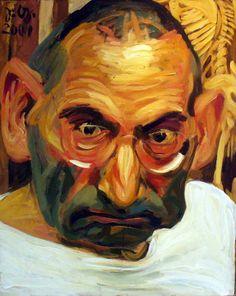 paperimages:  Johannes Grutzke, self-portrait