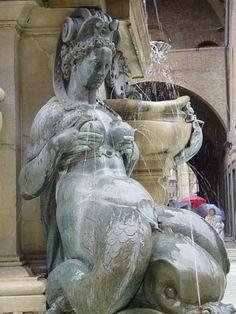 Unique mermaid fountain.