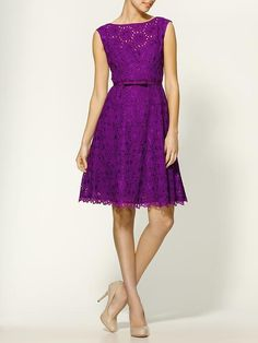 Nanette Lepore Balloon Dress in Violet, worn by Piper Perabo as Annie Walker on Covert Affairs