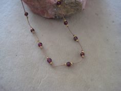 Round Red Garnets Knotted Tin Cup Style on by SleepingCatDesigns