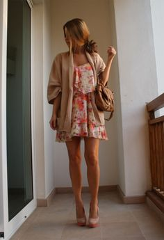 In love with floral for this spring/summer and LOVE a cardigan always.