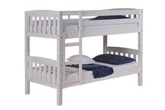 Verona America Shorty Bunk in White Wash - 2ft6 x 5ft3