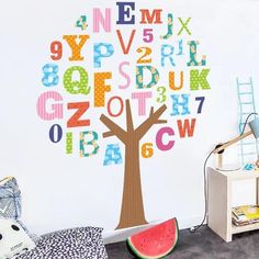 Alphabet Tree Wall Decals – The Treasure Thrift Classroom Walls, Classroom Decor, Preschool Decor, Playroom Wall Decor, Nursery Decor, Daycare Rooms, School Murals, Alphabet Wall, School Decorations