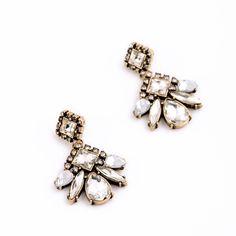 Have A Blast Earrings Pierced Crystal Pendant  Vintage Design Accessory