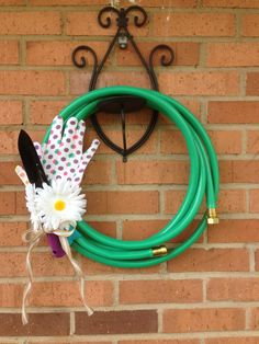 Summery Garden Hose Wreath! by ToastyBarkerBoutique on Etsy