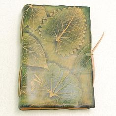 Green Leaves Leather Journal. by GILDBookbinders on Etsy