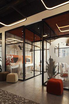 Office Design Concepts, Open Office Design, Workspace Design, Office Workspace, Space Interiors, Office Interiors, Corporate Office Decor, Corporate Offices, Open Concept Office