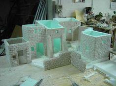 Christmas Nativity Scene, Christmas Villages, Nativity Scenes, Fontanini Nativity, Styrofoam Crafts, Wargaming Terrain, Miniature Houses, Miniture Things, Fairy Houses
