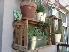 crates for extra garden space