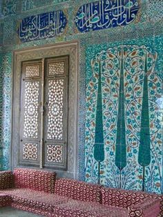 Topkapi Palace, Istanbul Persian Architecture, Amazing Architecture, Art And Architecture, Islamic Art Pattern, Pattern Art, Middle Eastern Decor, Islamic Tiles, Persian Pattern, Istanbul