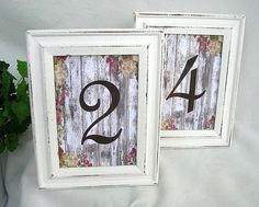 Wedding Table Card Frames Whitewash Wood Frames Wedding Table Number Rustic…