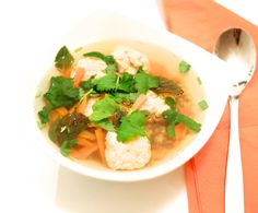Hämmentäjä: Fish and shrimp dumplings in an Asian broth. Kala-katkarapupullat aasialaisessa liemessä