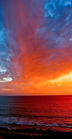 **Virga Cloud at Sunset - San Diego, California