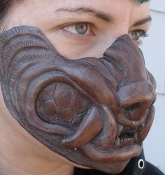 Cold cast copper werewolf mask by missmonster.deviantart.com on @deviantART