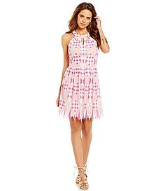 9e988da184b Gianni Bini Chloe Geo Print Halter Dress  Dillards Chloe Dress
