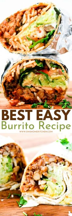 Check out how to make your own burrito and impress your family and friends. This is truly the best easy burrito recipe you'll find! #burrito #lunch #mealprep #beef #mincedbeef