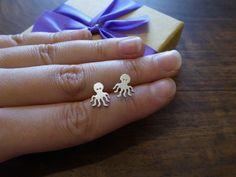 Octopus Stud Earrings – Gorjess Jewellery